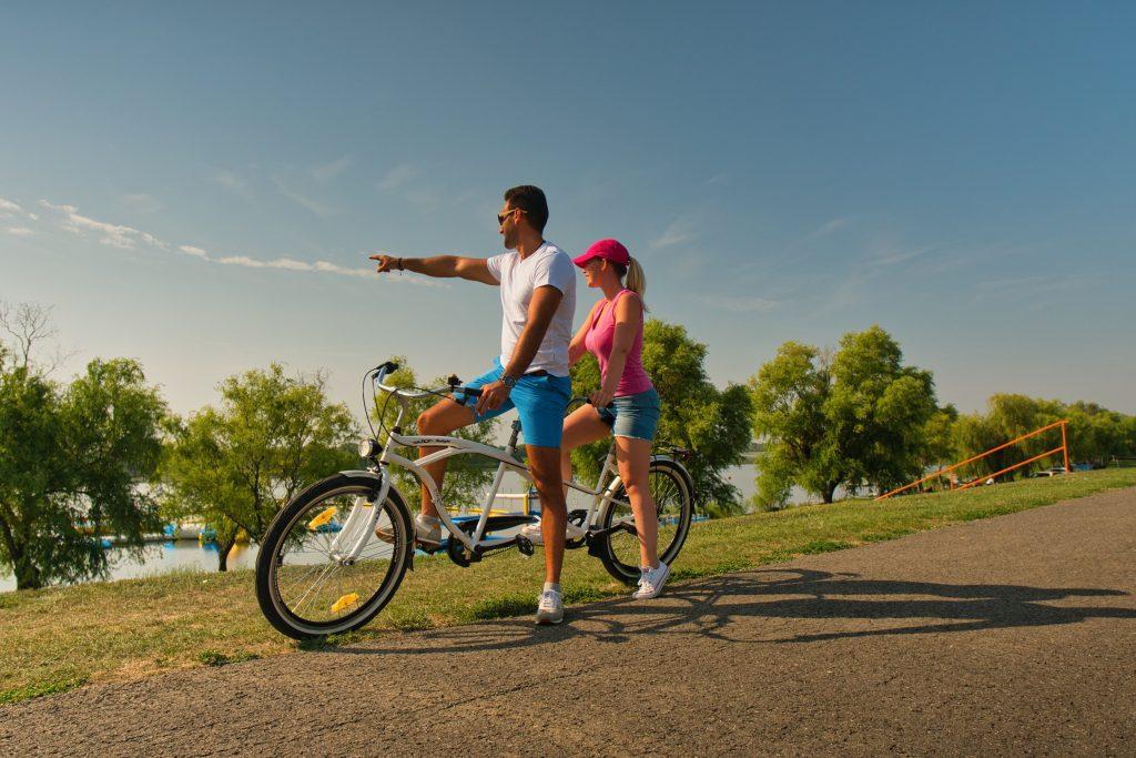 Kisköre Tisza-tó biciklizés - Ring-a-tó Strand